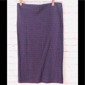 Top shop plaid knit  skirt